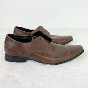 Calvin Klein Leather Brodie Oxford Lace Up Shoes
